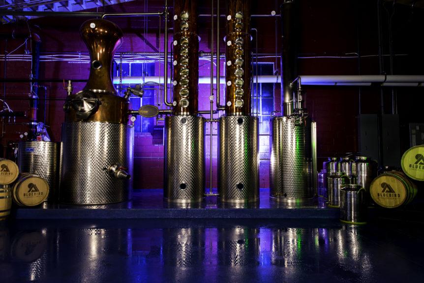 Bluebird distillery hand sanitizer